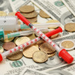 Expensive drugs and medicines — Stock Photo
