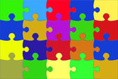 Illustration with the coloured puzzle — Stock Photo