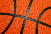 Close up of orange basketball — Stock Photo