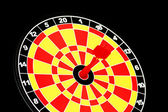 Darts board with one arrow — Stock Photo