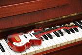 Musical concept - Rock guitar — Stock Photo