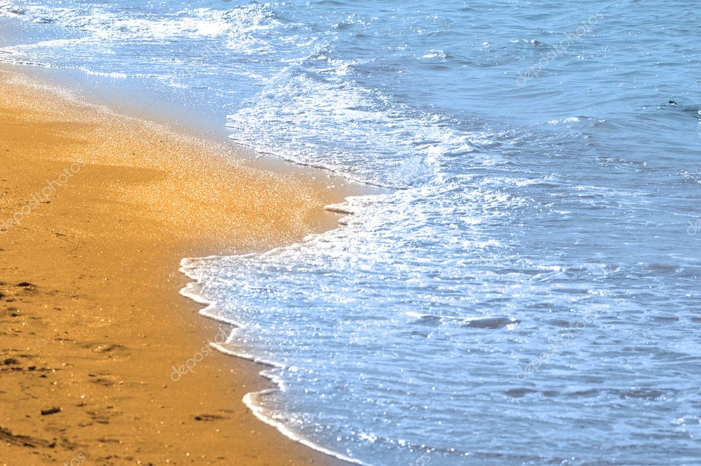 Water and sand at the beach — Stock Photo #2651532