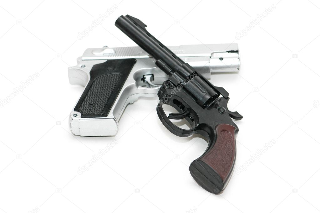 Two guns isolated on the white background — Stock Photo #2652463