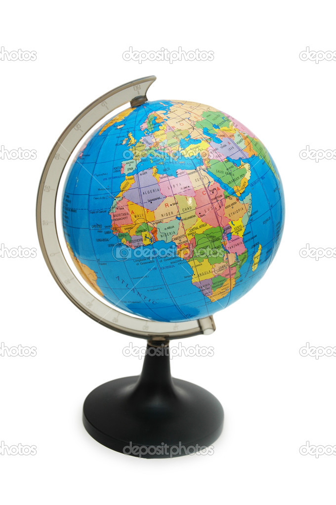 Globe isolated on the white  background  Stock Photo #2653717