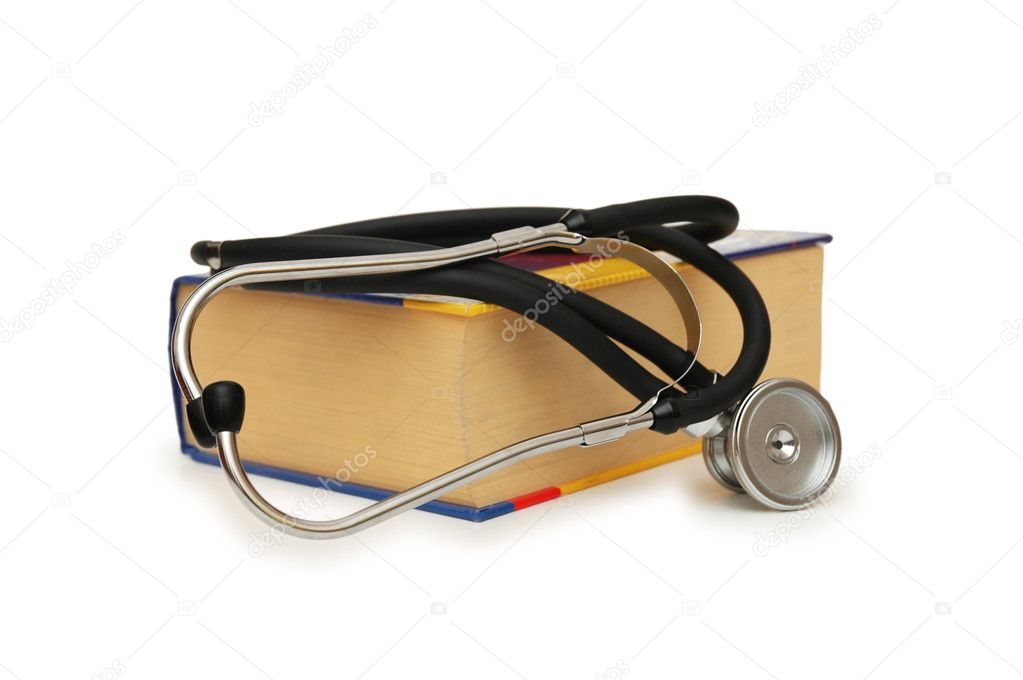 Medical Concept - Stethoscope on the medical  textbook  Stock Photo #2657065