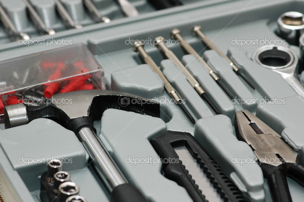 Various DYI tools in the  toolkit box — Stock Photo #2658928