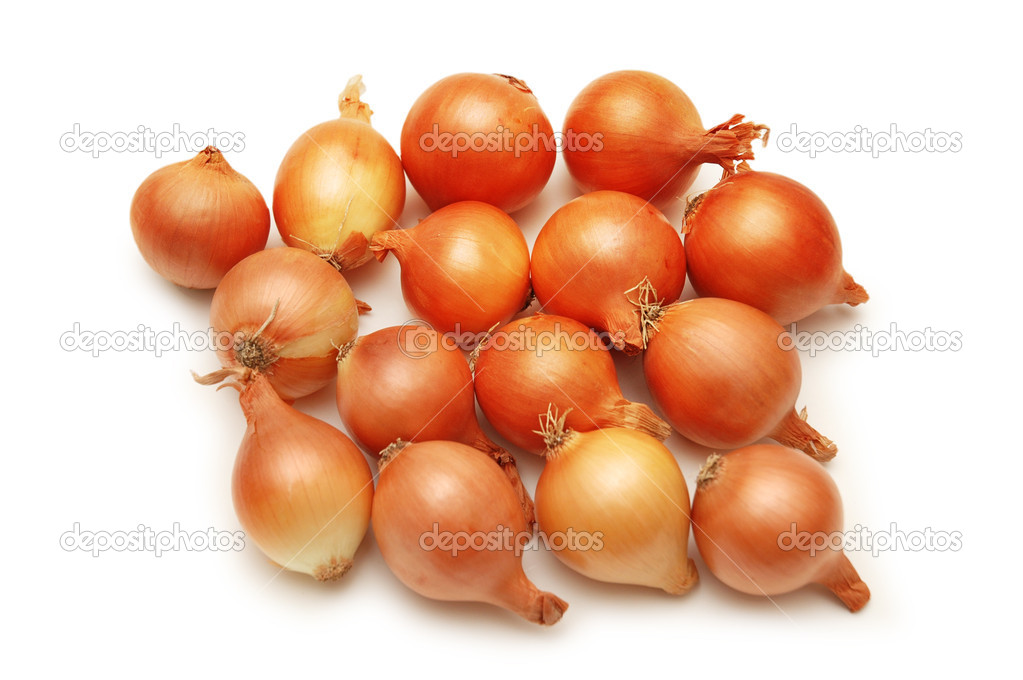 Lots of onions isolated  on white background  Stock Photo #2659660
