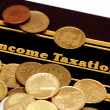 "Stock Photo: Book of ""Income Taxation"""