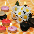 Flowers, stones and candles - Foto de Stock