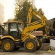 Stockfoto: Construction vehicles on site
