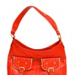 Red woman bag isolated on the white — Stock Photo