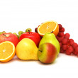 Various fruits isolated on the white — Stock Photo