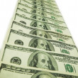 Stock Photo: Hundred dollar banknotes isolated