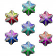 Christmas stars of various colours — Stock Photo