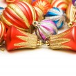 Lots of christmas decoration — Stock Photo