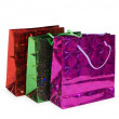 Three shopping bags isolated — Stock Photo