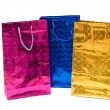 Colorful bags isolated on the white — Stock Photo