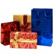 Stock Photo: Bags and giftbox isolated