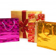 Shopping bags and giftbox isolated — Stock Photo