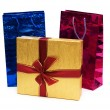 Bags and giftbox isolated — Stock Photo