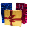 Bags and giftbox isolated - Stock Photo
