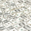 Lots of dollars arranged — Stock Photo