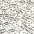Royalty-Free Stock Photo: Lots of dollars arranged