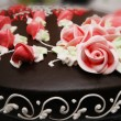 Close up of cake with decoration — Foto Stock