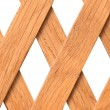 Wooden trellis with rhomb  holes - Stock Photo
