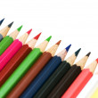 Various pencils isolated on the white — Stock Photo