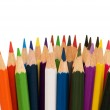 Various colour pencils isolated — Stock Photo #2684706
