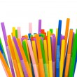 Lots of drinking straws isolated - Stock Photo