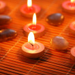 Candles for aromatherapy session — Stock Photo
