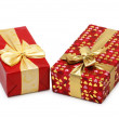 Stock Photo: Two gift boxes isolated