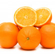 Two oranges isolated on the white — Stock Photo