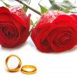 Wedding concept with roses - Stock Photo