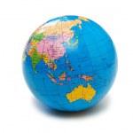 Blue globe isolated on the white — Stock Photo #2685797