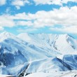 High mountains under snow — Stock Photo
