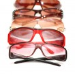 Various sunglasses isolated - Stock Photo