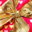 Close up of bow in gift box — Zdjęcie stockowe