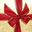 The ribbon and bow of the giftbox — Stock Photo