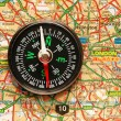 Compass over the map of UK — Stock Photo #2686954