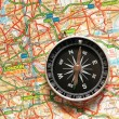 Compass over the map of UK — Stock Photo #2686989