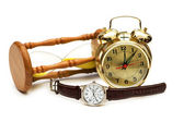Time concept with watch, clock — Stock Photo