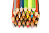 Colour pencils isolated on the white — Stock Photo