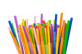 Lots of drinking straws isolated — Stock Photo