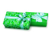 Two gifts boxes isolated — Stockfoto
