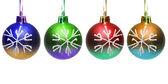 Colourful christmas balls isolated — Stock Photo