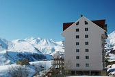 Ski resort hotel in the winter day — Stockfoto