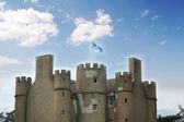 Antiguo castillo en escocia el día brillante — Foto de Stock